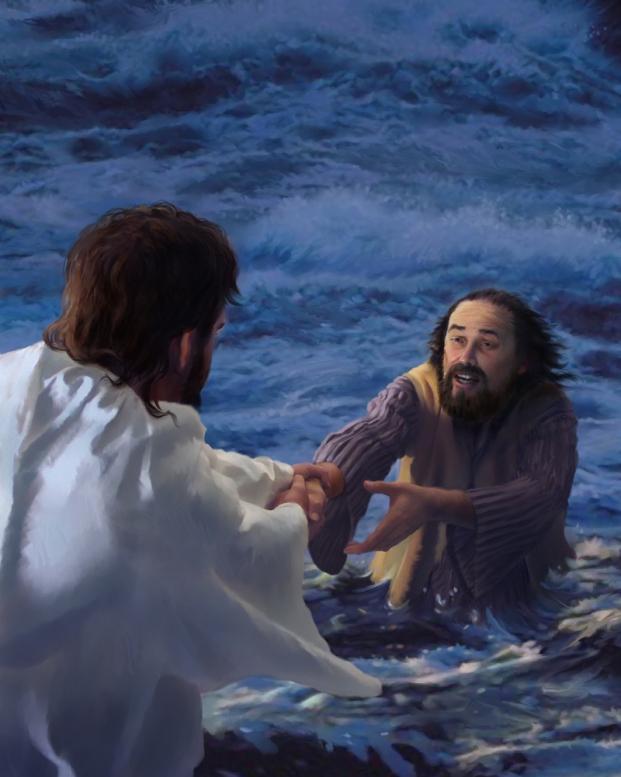 Jesus sauve PIERRE