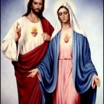 coeur JESUS MARIE DEBOUT