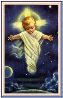 jesus enfant debout emmaillonné